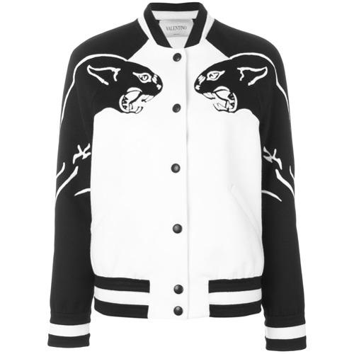 Imagen principal de producto de Valentino chaqueta bomber con motivo de panteras - Blanco - Valentino