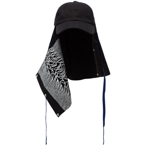 Raf Simons gorra Unknown Pleasures Joy Division - Negro