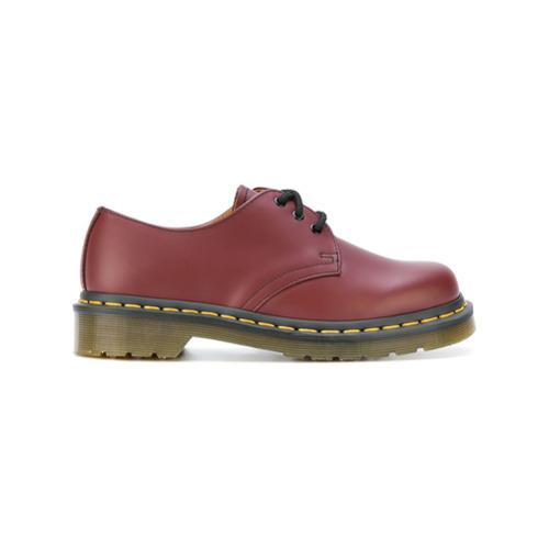 Imagen principal de producto de Dr. Martens zapatos brogues con suela dentada - Rojo - Dr. Martens