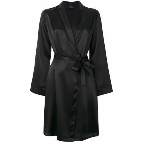 Imagen principal de producto de La Perla albornoz corto de seda - Negro - La Perla