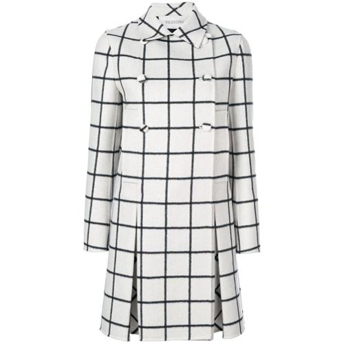 Imagen principal de producto de Valentino abrigo con doble botonadura - Blanco - Valentino