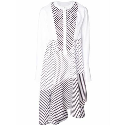 Imagen principal de producto de Carven vestido asimétrico a rayas - Blanco - Carven