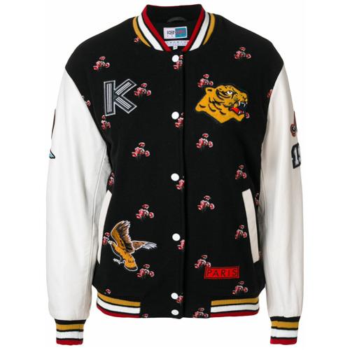 Imagen principal de producto de Kenzo chaqueta deportiva con motivos - Negro - Kenzo