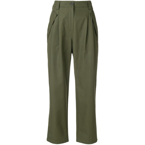 Imagen principal de producto de Valentino pantalones cargo de talle alto - Verde - Valentino
