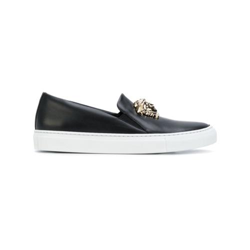Imagen principal de producto de Versace zapatillas Palazzo estilo slip-on - Negro - Versace