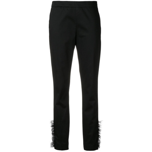 Imagen principal de producto de Moschino frilled style trousers - Negro - Moschino