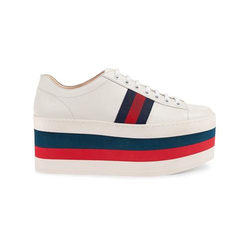 Imagen principal de producto de Gucci zapatillas bajas con plataforma - Blanco - Gucci