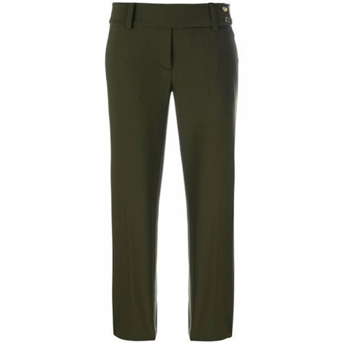 Imagen principal de producto de Michael Michael Kors pantalones capri de corte recto - Verde - MICHAEL Michael Kors