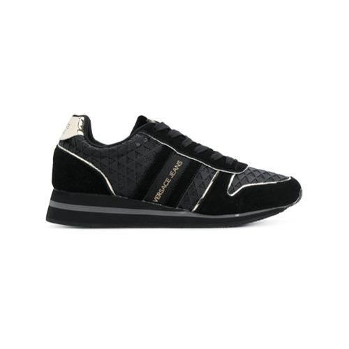 Imagen principal de producto de Versace Jeans zapatillas con detalle de raya lateral - Negro - Versace