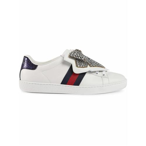 Imagen principal de producto de Gucci zapatillas Ace con bordados removibles - Blanco - Gucci