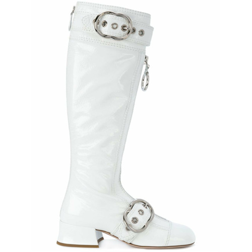 Imagen principal de producto de Miu Miu botas con correas y hebillas - Blanco - Miu Miu