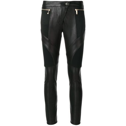 Imagen principal de producto de Versace pantalones biker de cuero - Negro - Versace