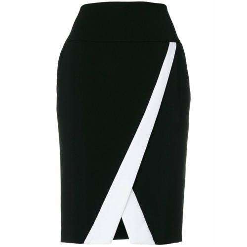 Imagen principal de producto de Just Cavalli falda de tubo de talle alto - Negro - Just Cavalli