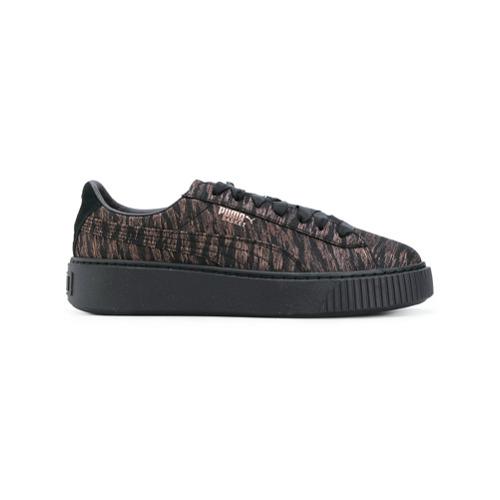 Imagen principal de producto de Puma zapatillas Basket con plataforma - Negro - Puma