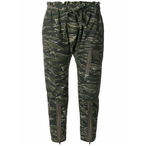 Imagen principal de producto de Current/Elliott pantalones capri Aviation - Verde - Current/Elliott