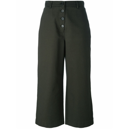 Imagen principal de producto de Proenza Schouler pantalones capri de talle alto - Verde - Proenza Schouler
