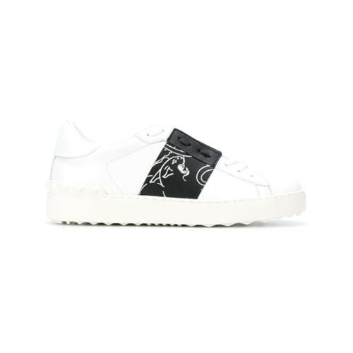 Imagen principal de producto de Valentino zapatillas con pantera Open Valentino Garavani - Blanco - Valentino