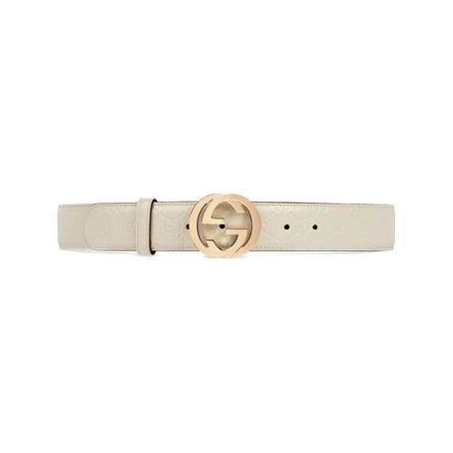 Imagen principal de producto de Gucci cinturón Gucci Signature con hebilla de G - Blanco - Gucci