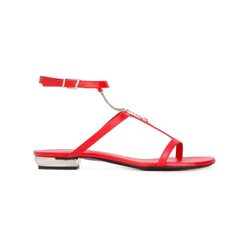 Imagen principal de producto de La Perla sandalias planas con cadenas - Rojo - La Perla