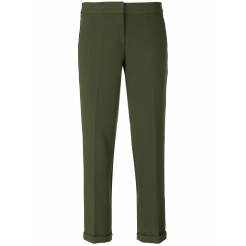 Imagen principal de producto de Michael Michael Kors pantalones de vestir de estilo capri - Verde - MICHAEL Michael Kors