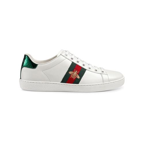 Imagen principal de producto de Gucci zapatillas bajas Ace bordadas - Blanco - Gucci