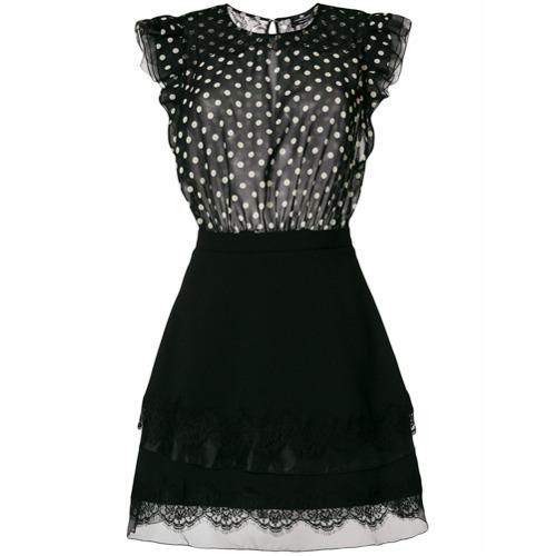 Imagen principal de producto de Elisabetta Franchi vestido corto con panel de lunares - Negro - Elisabetta Franchi