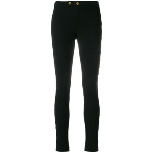 Imagen principal de producto de Michael Michael Kors pantalones con detalle de botón - Negro - MICHAEL Michael Kors