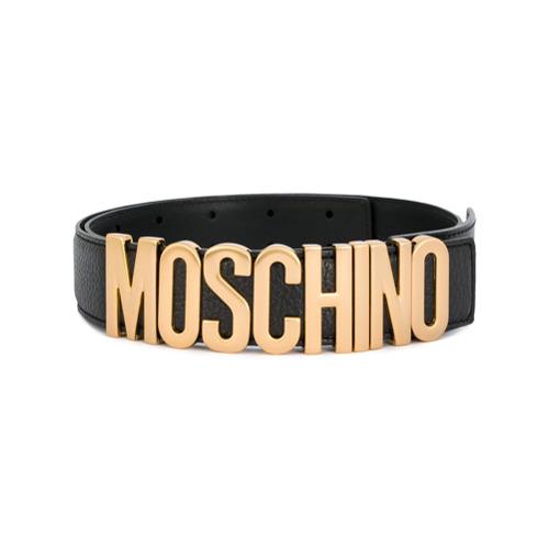 Imagen principal de producto de Moschino cinturón con logo de letra - Negro - Moschino