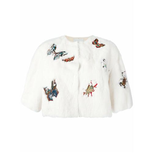 Imagen principal de producto de Valentino chaqueta corta bordada - Blanco - Valentino