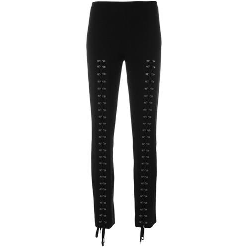 Imagen principal de producto de Moschino pantalones con ojales y cordones - Negro - Moschino