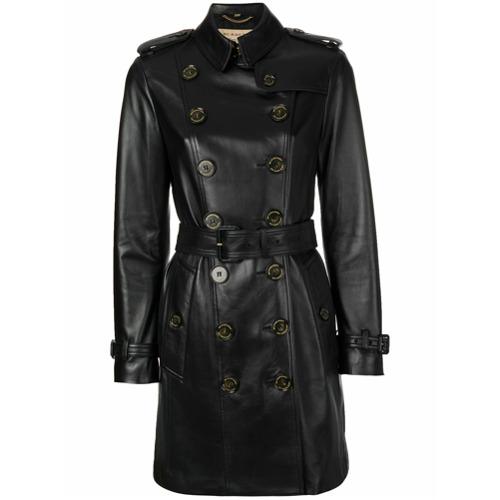 Imagen principal de producto de Burberry abrigo con doble botonadura - Negro - Burberry
