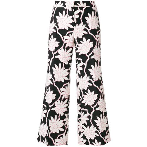 Imagen principal de producto de Valentino pantalones capri con estampado floral - Negro - Valentino