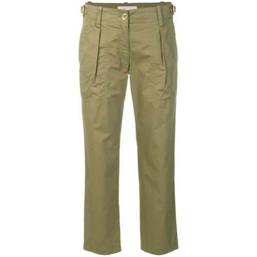 Imagen principal de producto de Michael Michael Kors pantalones tipo cargo con corte capri - Verde - MICHAEL Michael Kors