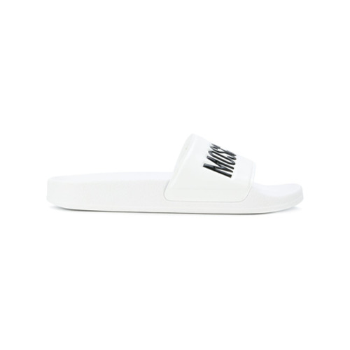 Imagen principal de producto de Moschino chanclas con logo - Blanco - Moschino