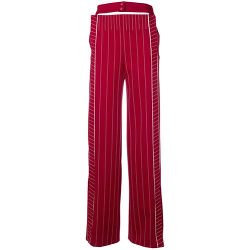 Imagen principal de producto de Valentino contrast stitch belt detail trousers - Rojo - Valentino