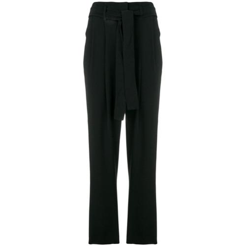 Imagen principal de producto de Michael Michael Kors pantalones capri con cinturón - Negro - MICHAEL Michael Kors