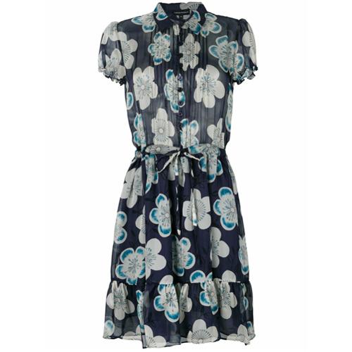 Imagen principal de producto de Emporio Armani vestido con estampado floral - Azul - Emporio Armani