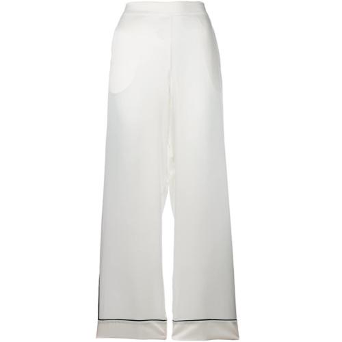 Imagen principal de producto de Asceno striped edged pyjama trouser - Blanco - ASCENO