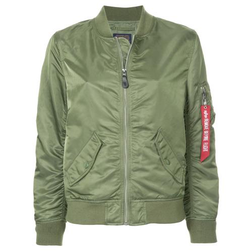 Imagen principal de producto de Alpha Industries chaqueta bomber con cremallera - Verde - Alpha Industries
