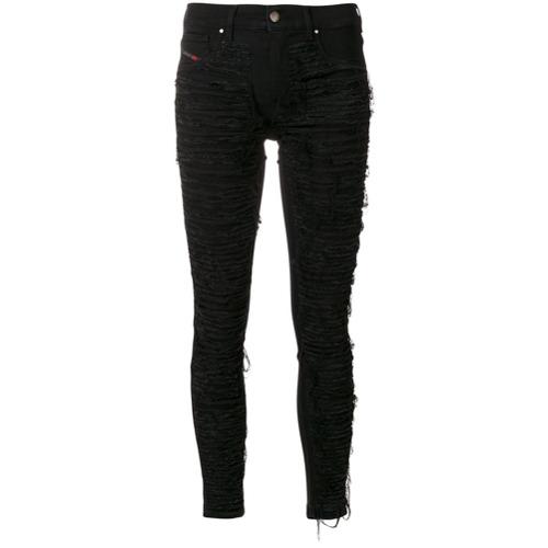 Imagen principal de producto de Diesel pantalones rasgados - Negro - Diesel