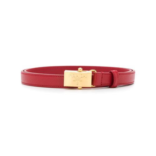 Imagen principal de producto de Prada cinturón estrecho con placa del logo - Rojo - Prada