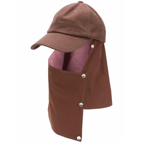 Raf Simons shield flap baseball cap - Marrón