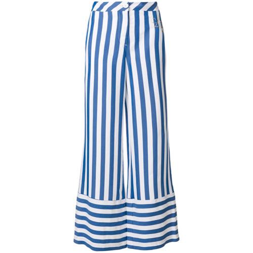 Imagen principal de producto de Love Moschino pantalones palazzo a rayas - Azul - Moschino