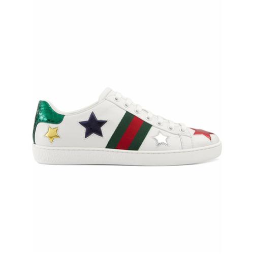 Imagen principal de producto de Gucci zapatillas bajas Ace - Blanco - Gucci