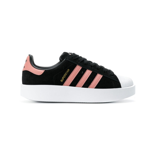 Imagen principal de producto de Adidas zapatillas Superstar con plataforma plana - Negro - Adidas
