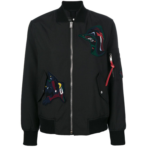 Imagen principal de producto de Proenza Schouler chaqueta bomber con parches - Negro - Proenza Schouler