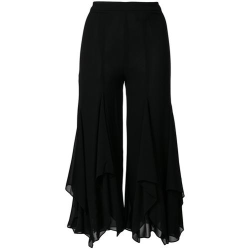 Imagen principal de producto de Michael Michael Kors pantalones con dobladillo godet de chifón - Negro - MICHAEL Michael Kors