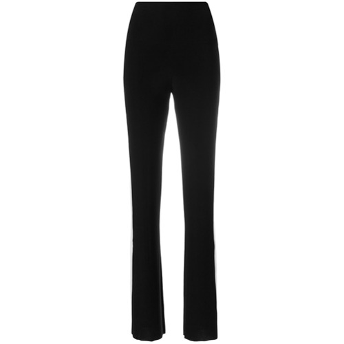 Imagen principal de producto de Norma Kamali pantalones acampanados con franja lateral - Negro - Norma Kamali