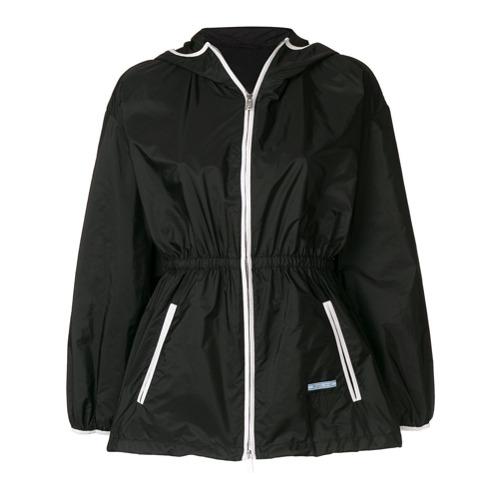 Imagen principal de producto de Prada chaqueta entallada con ribete en contraste - Negro - Prada