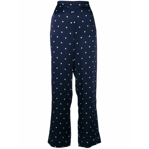Imagen principal de producto de Asceno polka dotted pyjama trousers - Azul - ASCENO